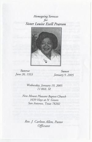 [Funeral Program for Louise Ezell Pearson, January 19, 2005]