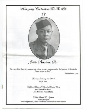 Primary view of object titled '[Funeral Program for Jessie Peterson, Sr., February 12, 2004]'.