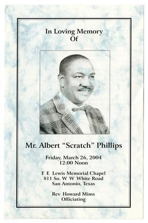 Primary view of object titled '[Funeral Program for Albert Phillips, March 26, 2004]'.