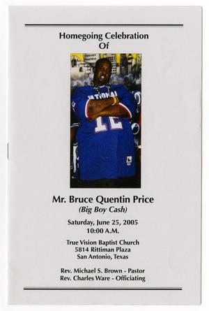 Primary view of object titled '[Funeral Program for Bruce Quentin Price, June 25, 2005]'.