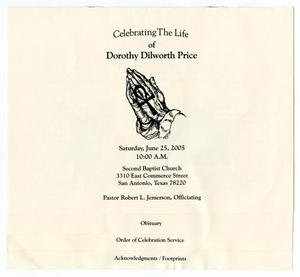 [Funeral Program for Dorothy Dilworth Price, June 25, 2005]