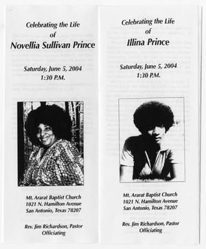 Primary view of object titled '[Funeral Program for Illina Prince and Novellia Sullivan Prince, June 5, 2004]'.