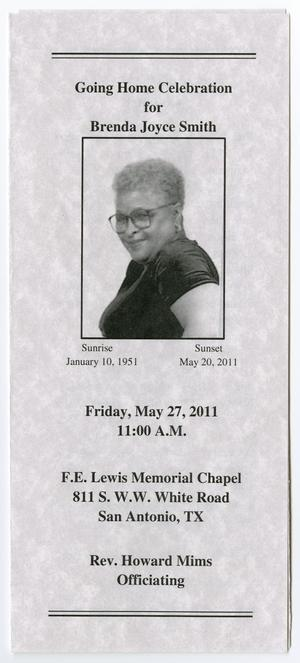 Primary view of object titled '[Funeral Program for Brenda Joyce Smith, May 27, 2011]'.