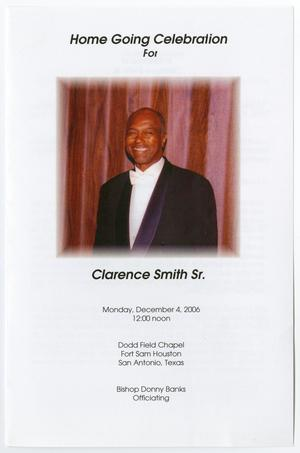 [Funeral Program for Clarence Smith, Sr., December 4, 2006]