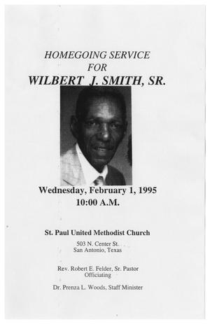 Primary view of object titled '[Funeral Program for Wilbert J. Smith, Sr., February 1, 1995]'.