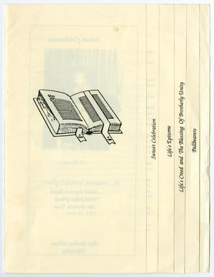 Primary view of object titled '[Funeral Program for Shelly Edward Steward, Jr., June 27, 1991]'.