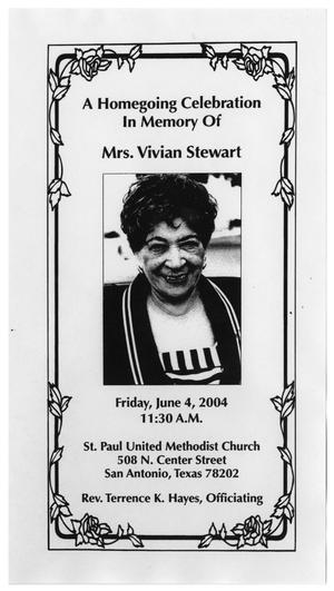 Primary view of object titled '[Funeral Program for Vivian Stewart, June 4, 2004]'.