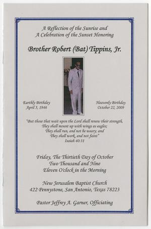 Primary view of object titled '[Funeral Program for Robert Tippins, Jr., October 30, 2009]'.