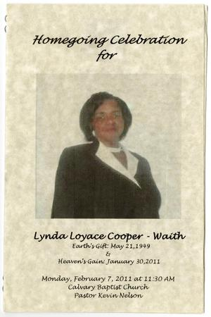 Primary view of object titled '[Funeral Program for Lynda Loyace Cooper-Waith, February 7, 2011]'.