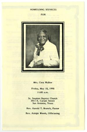 Primary view of object titled '[Funeral Program for Cora Walker, May 18, 1990]'.