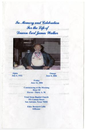 Primary view of object titled '[Funeral Program for Earl James Walker, June 16, 2006]'.