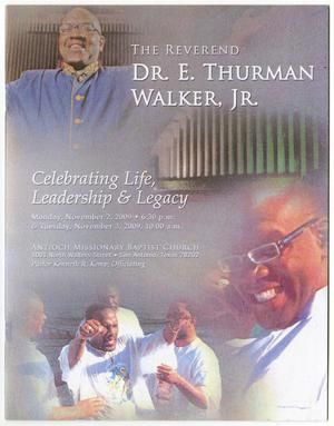 Primary view of object titled '[Funeral Program for Dr. E. Thurman Walker, Jr., November 3, 2009]'.