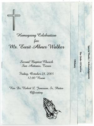 Primary view of object titled '[Funeral Program for Eurit Abner Walker, October 28, 2005]'.