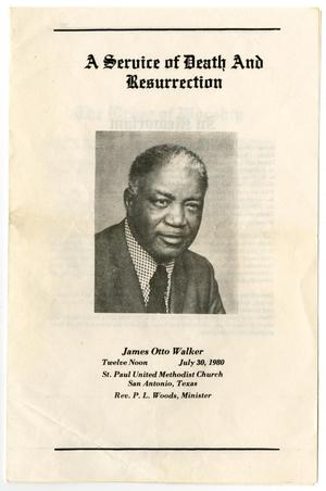 Primary view of object titled '[Funeral Program for James Otto Walker, June 30, 1980]'.