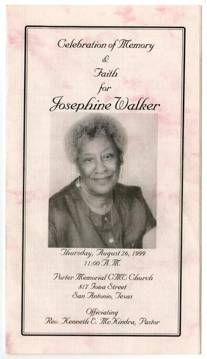 Primary view of object titled '[Funeral Program for Josephine Walker, August 26, 1999]'.