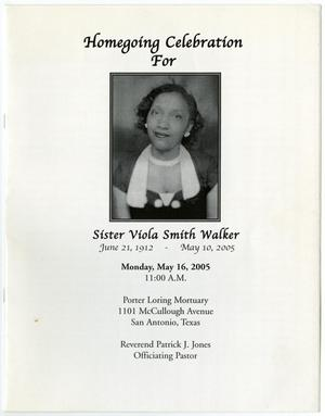 Primary view of object titled '[Funeral Program for Viola Smith Walker, May 16, 2005]'.