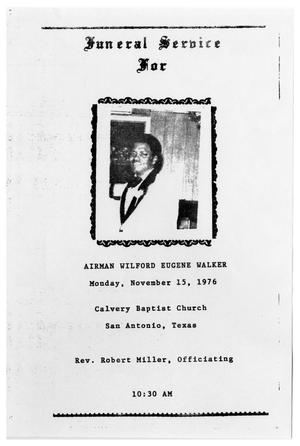 Primary view of object titled '[Funeral Program for Wilford Eugene Walker, November 15, 1976]'.