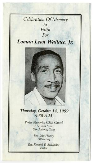 [Funeral Program for Loman Leon Wallace, Jr., October 14, 1999]