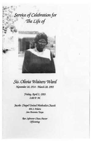 Primary view of object titled '[Funeral Program for Olivia Waiters Ward, April 2, 1993]'.