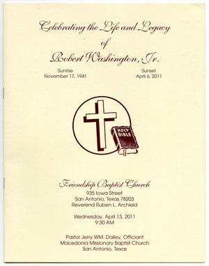 Primary view of object titled '[Funeral Program for Robert Washington, Jr., April 13, 2011]'.
