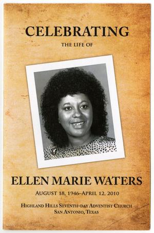 Primary view of object titled '[Funeral Program for Ellen Marie Waters, April 20, 2010]'.