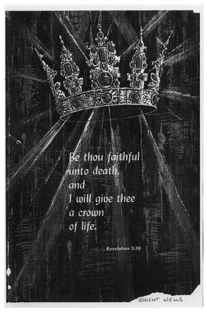 Primary view of object titled '[Funeral Program for Rugent Wells, March 20, 1974]'.