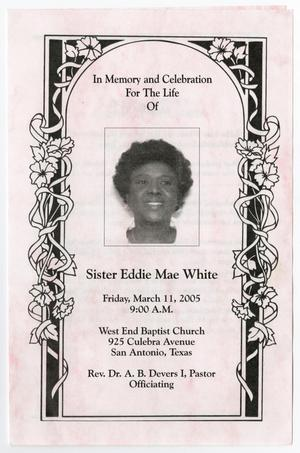 Primary view of object titled '[Funeral Program for Eddie Mae White, March 11, 2005]'.