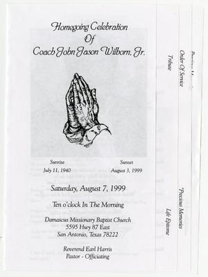 Primary view of object titled '[Funeral Program for John Jason Wilborn, Jr., August 7, 1999]'.