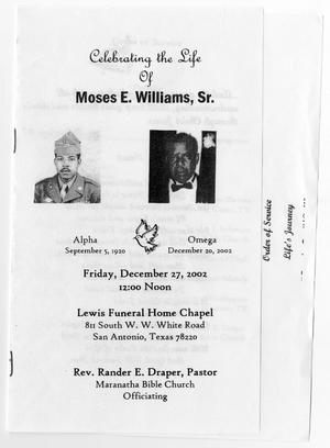 Primary view of object titled '[Funeral Program for Moses E. Williams, Sr., December 27, 2002]'.