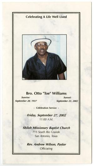 Primary view of object titled '[Funeral Program for Otto Williams, September 27, 2002]'.