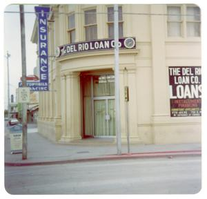 Primary view of object titled '[Old Del Rio National Bank - SW Corner Main Street and Greenwood]'.