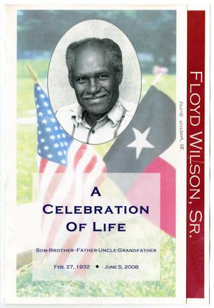 Primary view of object titled '[Funeral Program for Floyd Wilson, Sr., June 13, 2008]'.