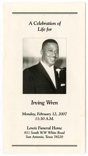 Primary view of object titled '[Funeral Program for Irving Wren, February 12, 2007]'.