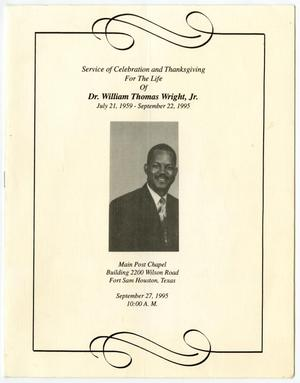 Primary view of object titled '[Funeral Program for William Thomas Wright, Jr., September 27, 1995]'.