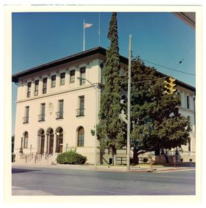 Primary view of object titled '[Old Federal Building - Corner of Main and Broadway]'.