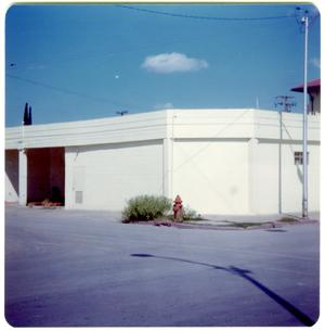 Primary view of object titled '[Madison Garage - Corner Martin and South Main Streets]'.