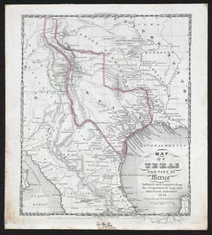 Map Of Texas Mexico.Map Of Texas And Part Of Mexico The Portal To Texas History