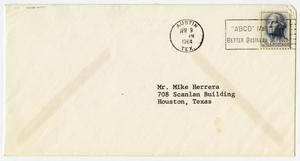 Primary view of object titled '[Envelope from John B. Connally to John Michael Herrera - 1964-04-09]'.