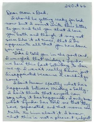 [Letter from Douglas M. Herrera to John J. Herrera - 1966-10-24]