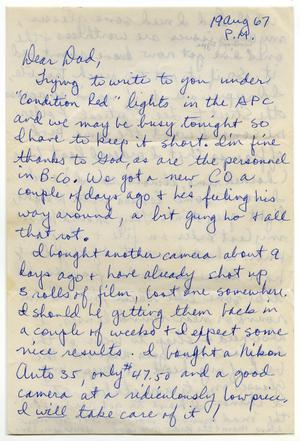 [Letter from Douglas M. Herrera to John J. Herrera - 1967-08-19]