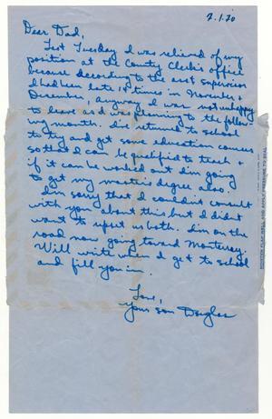 [Letter from Douglas M. Herrera to John J. Herrera - 1971-01-09]
