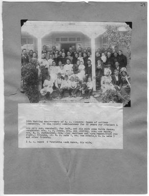 Primary view of object titled '50th Wedding anniversary of A. J. (Squire) Nance'.