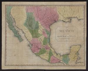 Primary view of object titled 'A Map of Mexico and the Republic of Texas'.