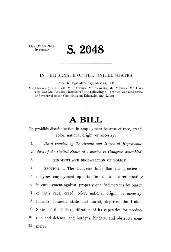 How to write a congressional bill