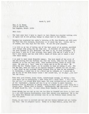Primary view of object titled '[Letter from John J. Herrera to J. B. Casas - 1967-03-08]'.