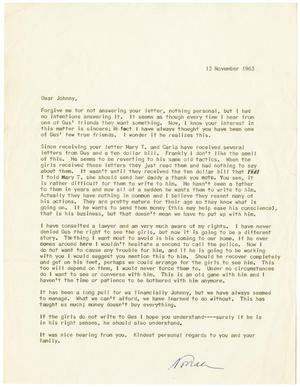 Primary view of object titled '[Letter from Eleanor R. Garcia to John J. Herrera - 1963-11-13]'.