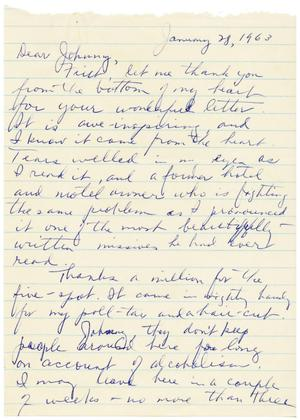 Primary view of object titled '[Letter from Gus C. Garcia to John J. Herrera - 1963-01-28]'.