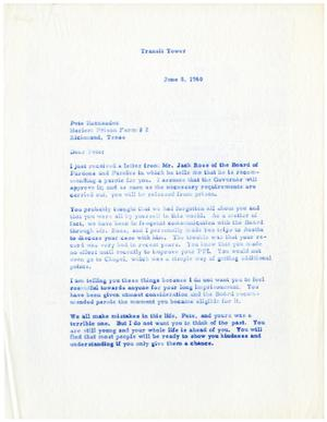 Primary view of object titled '[Letter from Gus C. Garcia to Pete Hernández - 1960-06-08]'.