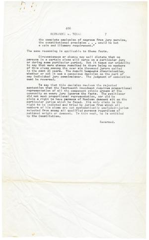 Primary view of object titled '[Judgement against the State of Texas, page seven]'.
