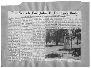 Primary view of object titled 'Search For John B. Denton's Body'.